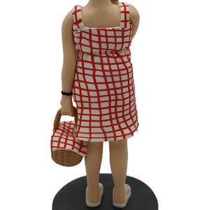 Housewife Carrying a Basket Custom Bobblehead