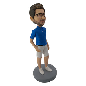 Polo Shirt Leisure Style Customized Bobblehead