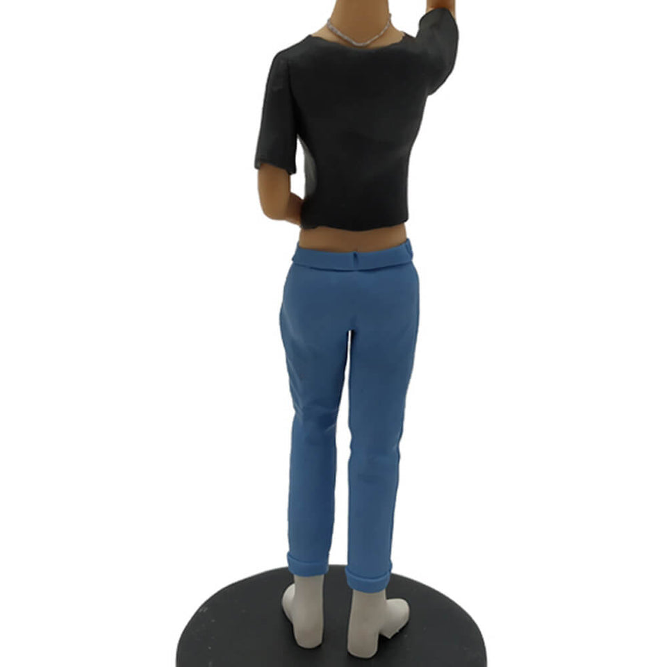 Black T-shirt Girl Custom Bobblehead
