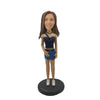 Fashionable Short Skirt Girl Custom Bobblehead