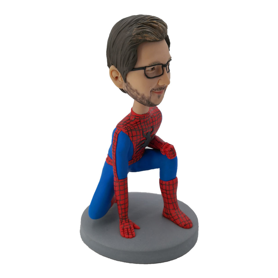 Side View of Spiderman Bobblehead