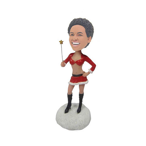Christmas Sexy Lady Custom Bobblehead