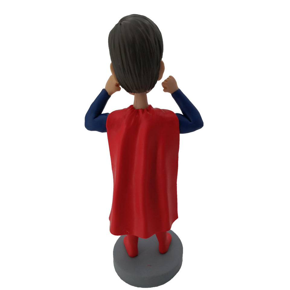 Red Cloak Strong Superman Bobblehead