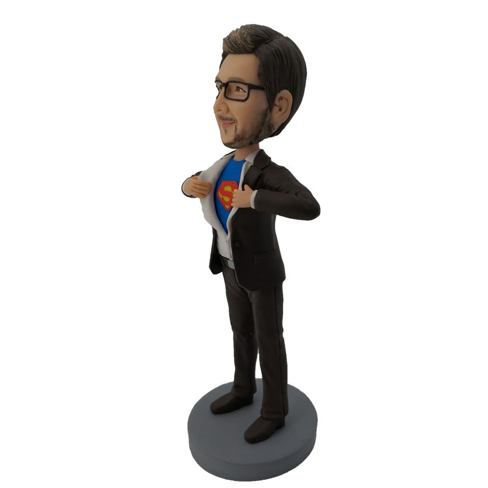 Gray Coat Superman Bobblehead