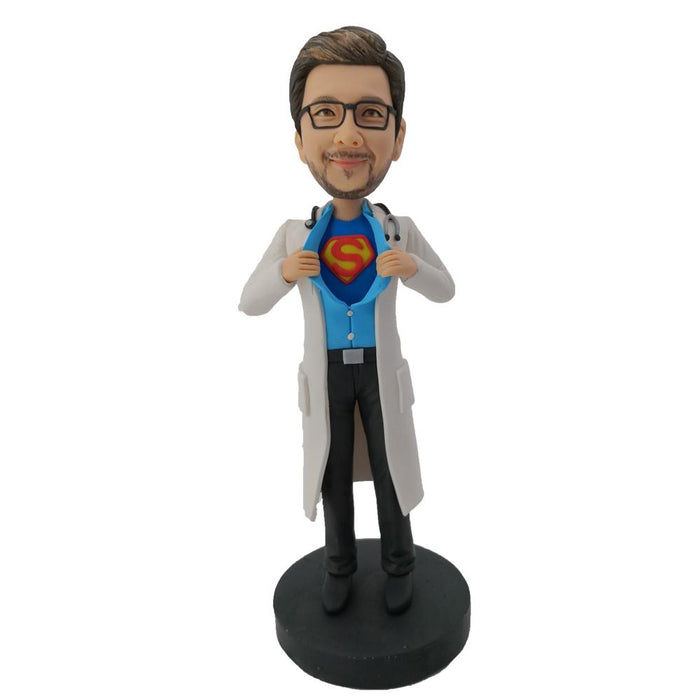 Superman Doctor Bobblehead with White Coat