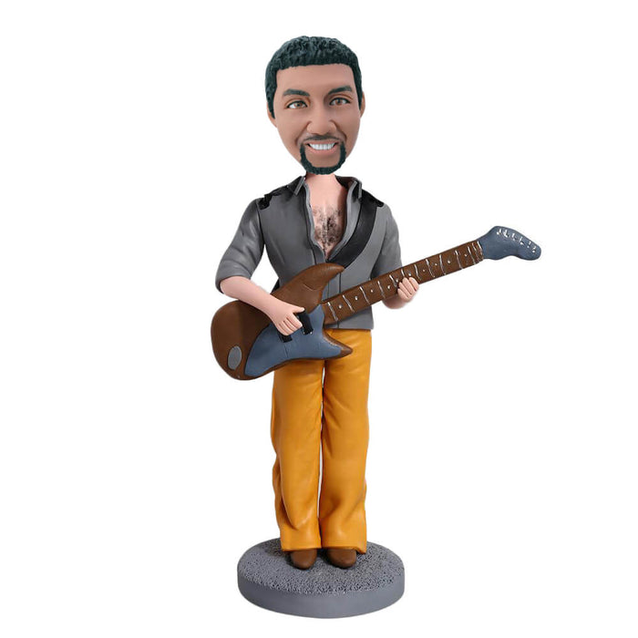 rough guitar man bobblehead