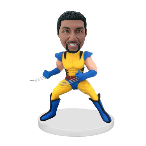 Yellow Suit Wolverine Custom Bobblehead