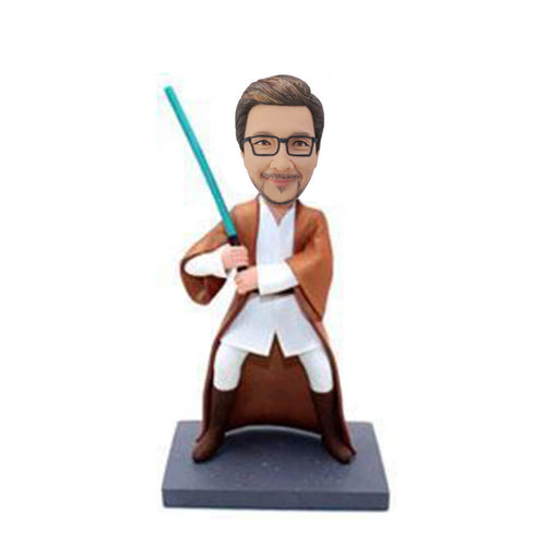 Blue Light Sword Star War Bobblehead