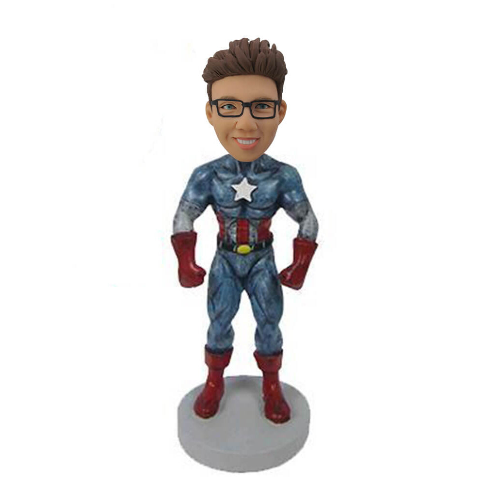 Dark Blue Captain America Bobblehead