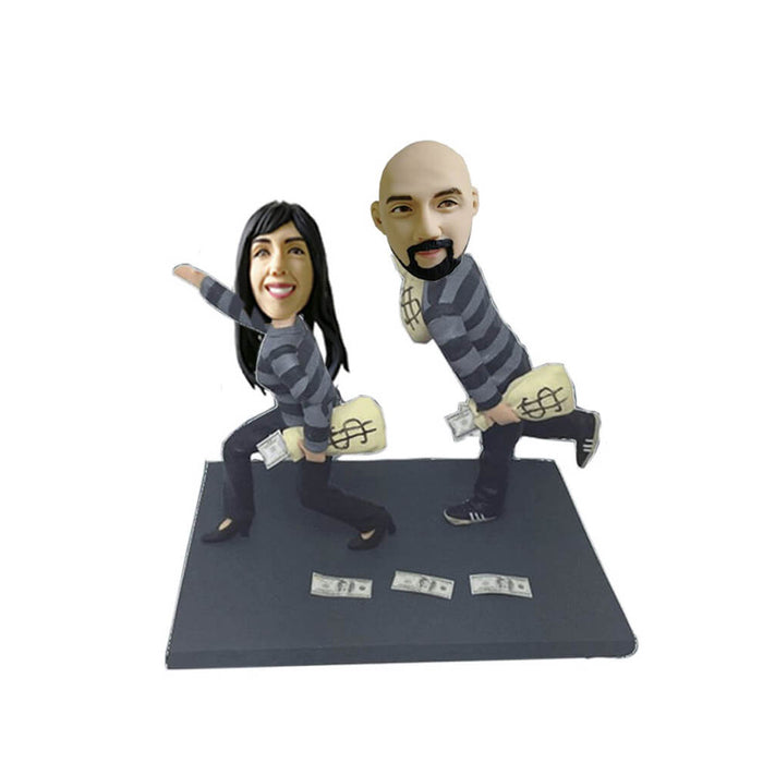 Funny Robber Couple Bobblehead