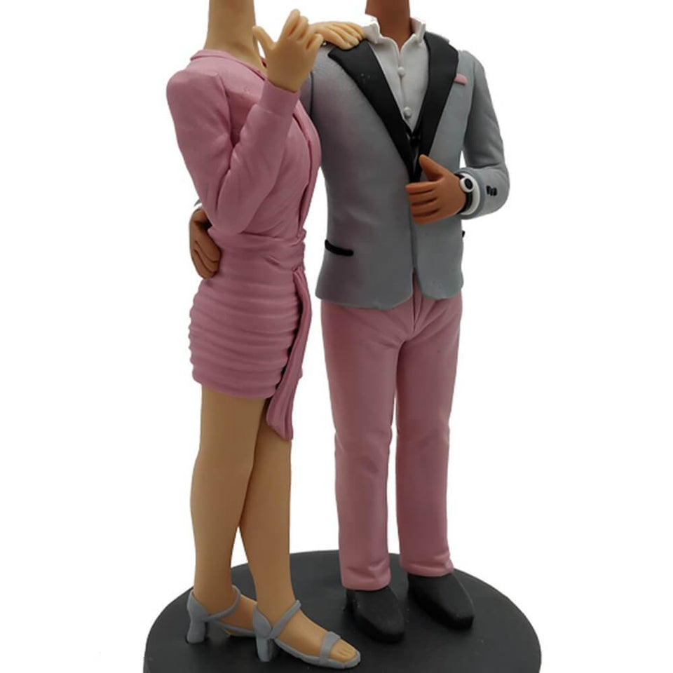 Fashion Clothing Couple Custom Bobblehead