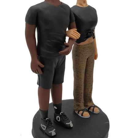 Black Suit Couple Custom Bobblehead