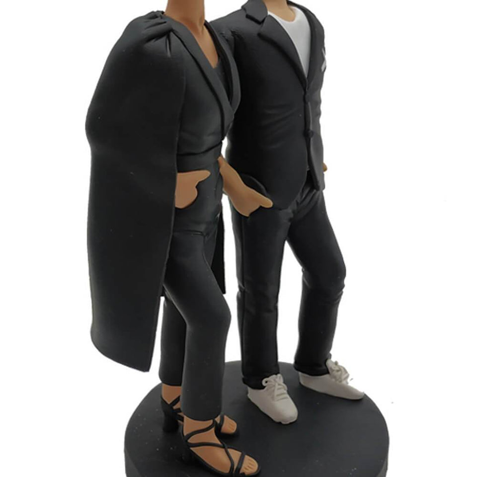 Black Coat Cool Couple Bobblehead