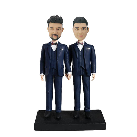 Male Couple Bobblehead