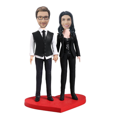 Slim Couple Bobblehead