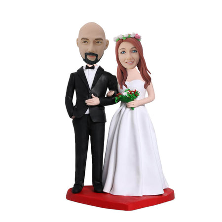 Wedding Couple Custom Bobblehead