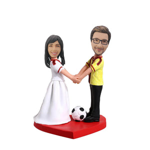 Soccer Couple Custom Bobblehead