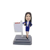 Estate Female Agent Custom Bobblehead