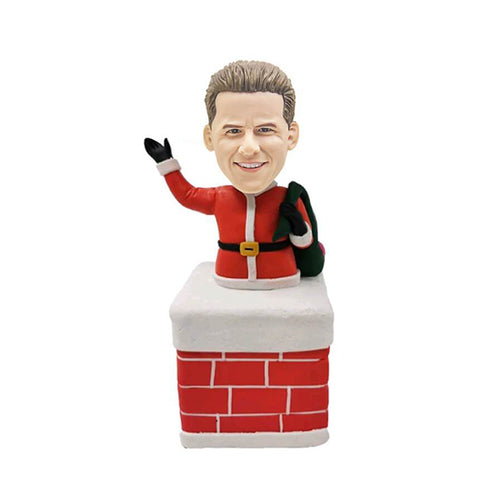 Santa Claus Santa In The Chimney Custom Bobblehead