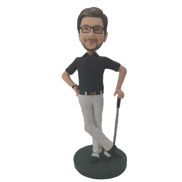 Black Shirt Back Up Golf Bobblehead