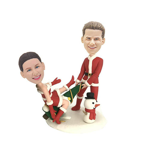 Christmas Couple Custom Bobbleheads
