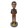 #2  Brown Suit Construction Worker Bobblehead
