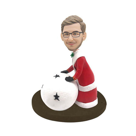 Christmas Snowball Custom Bobblehead