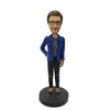#3 leisure Fashion Blue Coat Man bobblehead