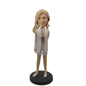 White Coat Sexy Lady Custom Bobblehead