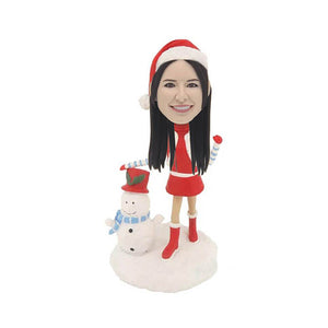 Women in Christmas Clothes Custom Bobblehead