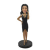 Black Skirt Sexy Lady Custom Bobblehead