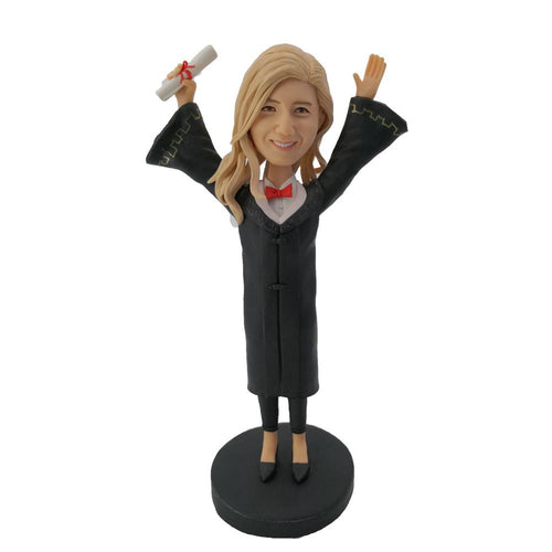 I graduated Bobblehead for girl