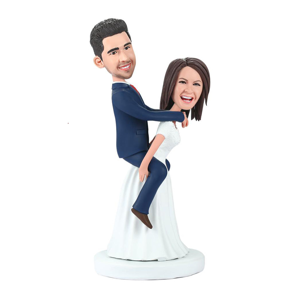 Bride Carrying The Bridegroom Custom Bobblehead