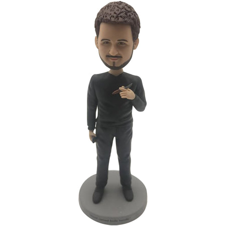 BLACK SUIT MAN BOBBLEHEAD
