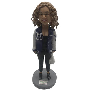 CURLY HAIR GIRL BOBBLEHEAD