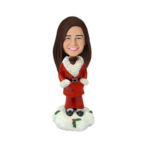 Christmas Gift Casual Woman Custom Bobblehead