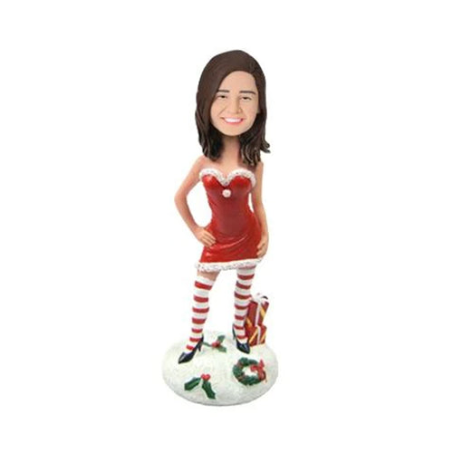 Christmas Gift Sexy Christmas Woman with Gifts Custom Bobblehead