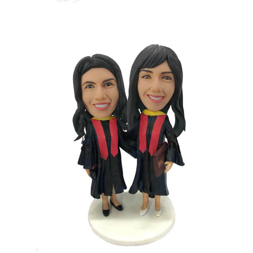 Double Graduation Bobblehead