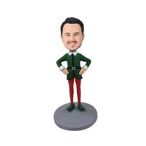 Elf Male Custom Bobblehead