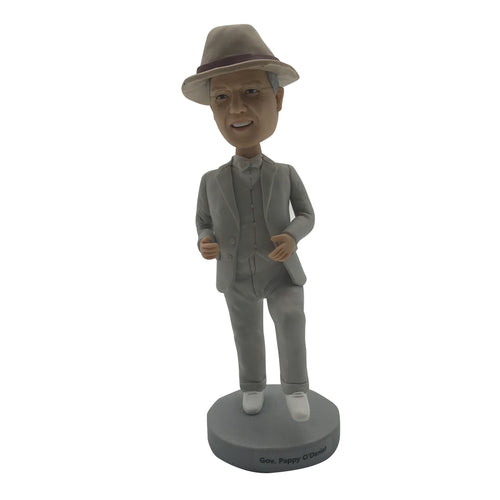 GRAY HAT MAN BOBBLEHEAD