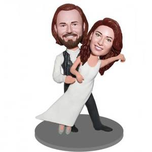 Happy Waltzing Dancing Couple Custom Figure Bobblehead