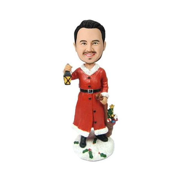 Christmas Gift Male with Lamp Custom Bobblehead