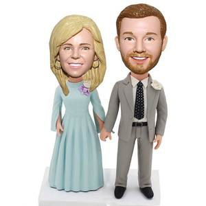 Married Couple In Formal Wear Wedding Anniversary Custom Figure Bobblehead