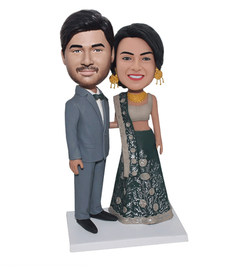 Ethnic Clothing Couple Custom Bobblehead