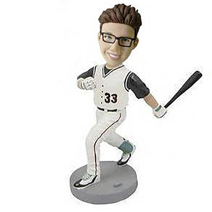 Running Baseball Player Bobblehead