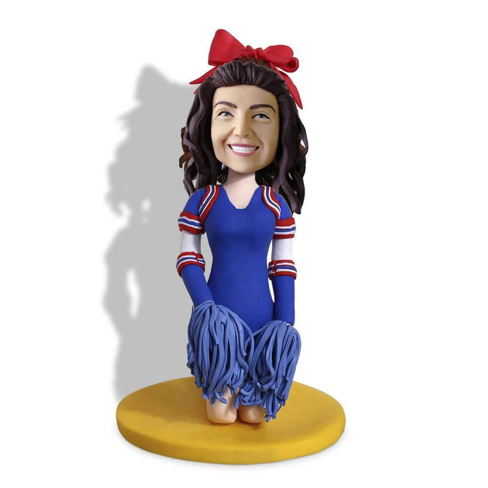 Kneeling Cheerleader Custom Bobblehead