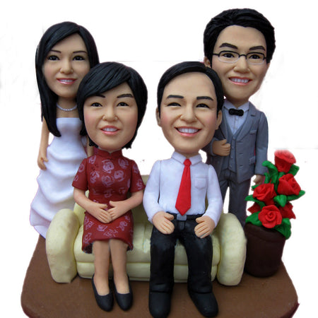 family personalized bobbleheads