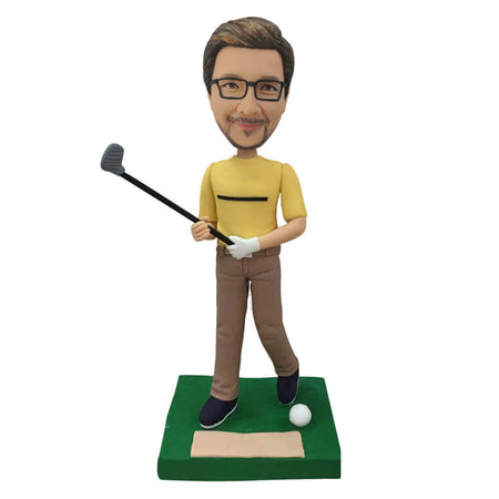 Yello Shirt Golf Bobblehead
