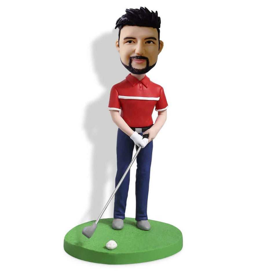 Golfer with Clubs Bobblehead