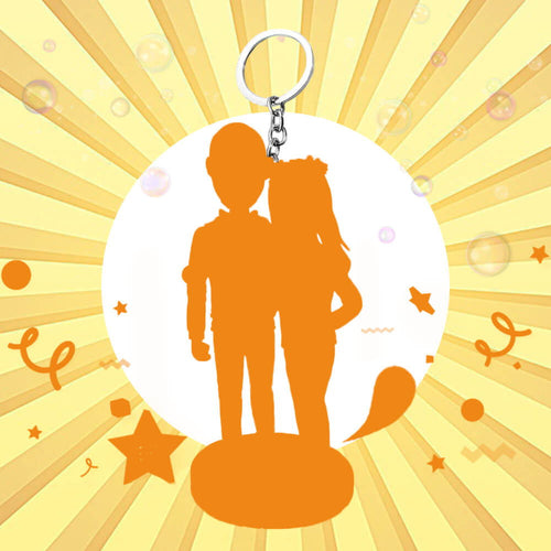 Key Chain Full Custom Double Bobbleheads
